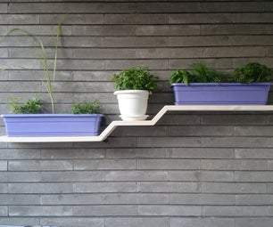 Floating Shelf for Spices Plant Pots