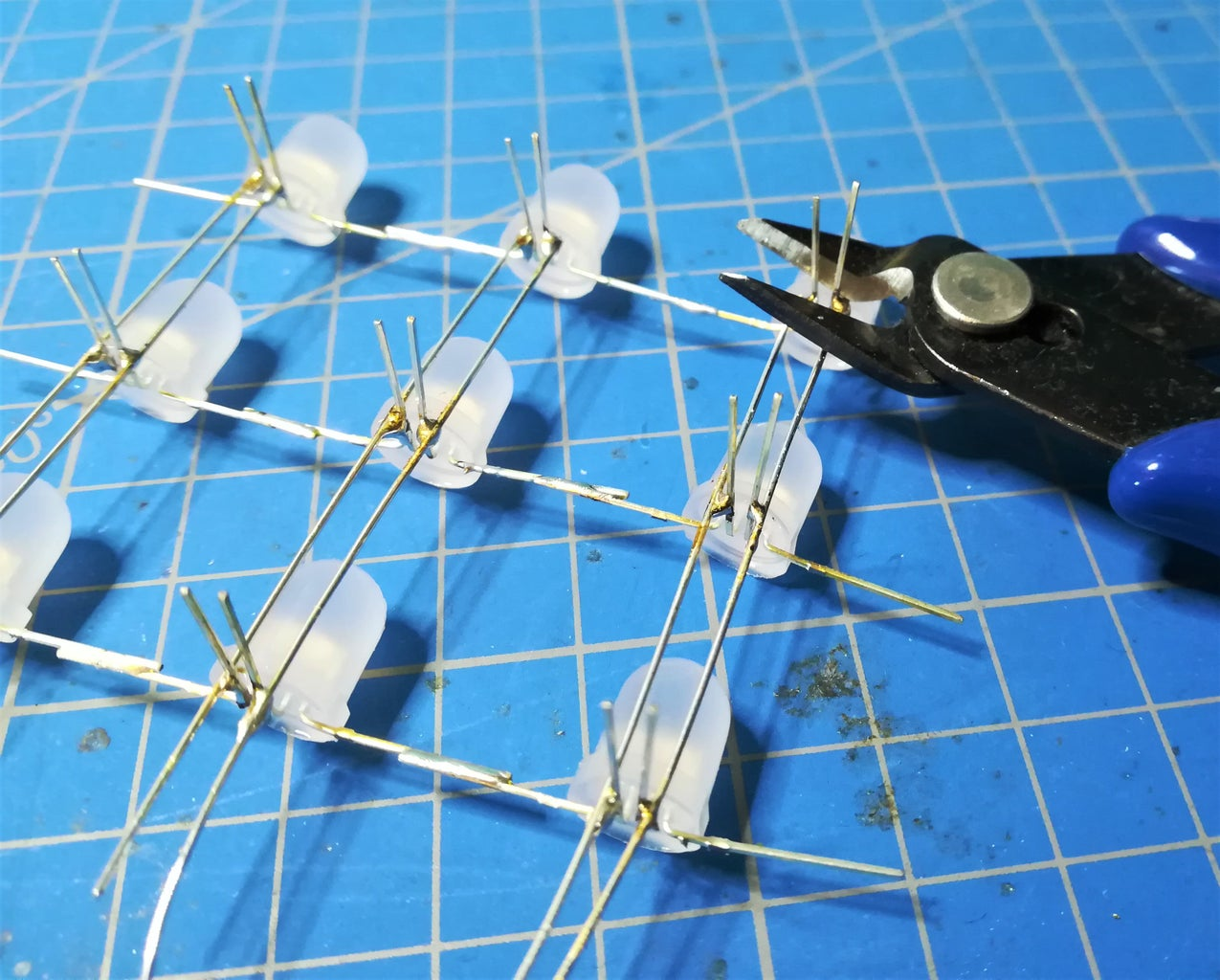 Removing the LEDs and Cutting the LED Pins