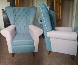 Wingback Armchair Full Build and Upholstery