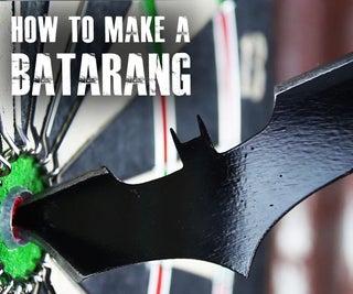 "How to Make a Batarang Like ""The Dark Knight"""