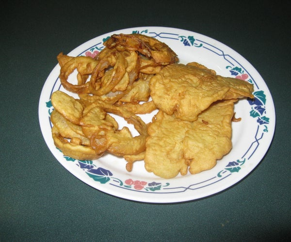 Battered Fish & Onion Rings