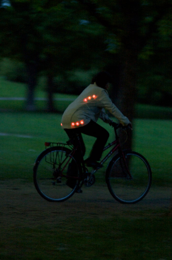 Light for Life: Glowing Button Cycling Jacket