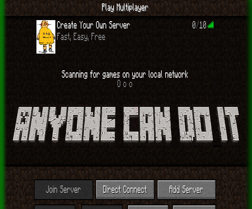 CREATE YOUR OWN MINECRAFT SERVER Super Easy Fast and Free (NO