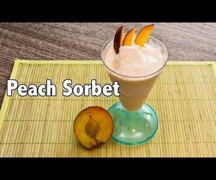 Low Calorie Tasty Peach Sorbet