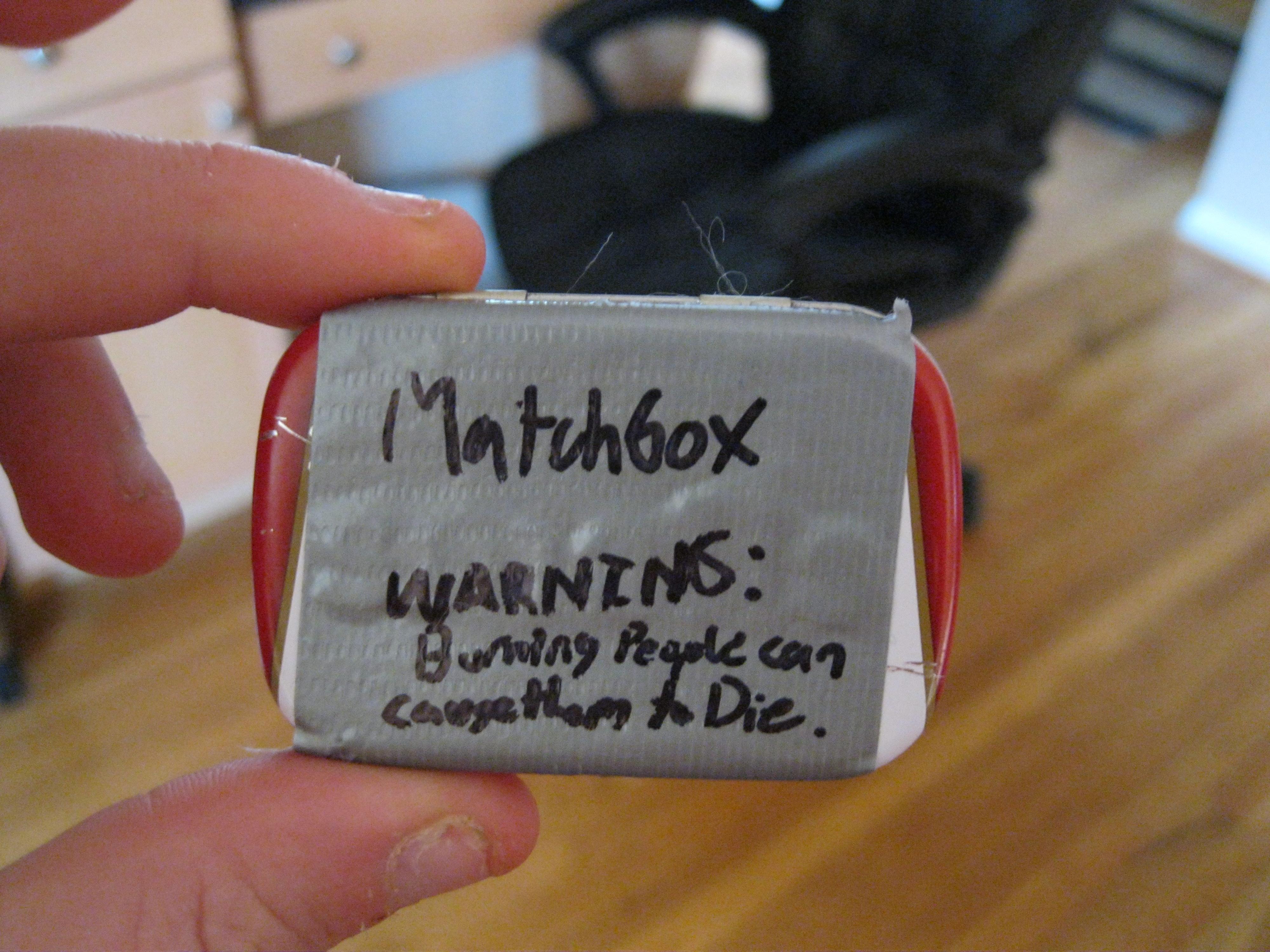 Altoids Tin Matchbox