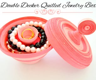 Double Decker Quilled Jewelry Box