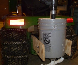 Electric Sand or Salt Spreader for Your Truck or Tractor From Junk
