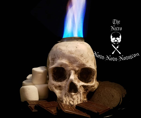 Casting Your Own Skull Table Top S'more Firepit