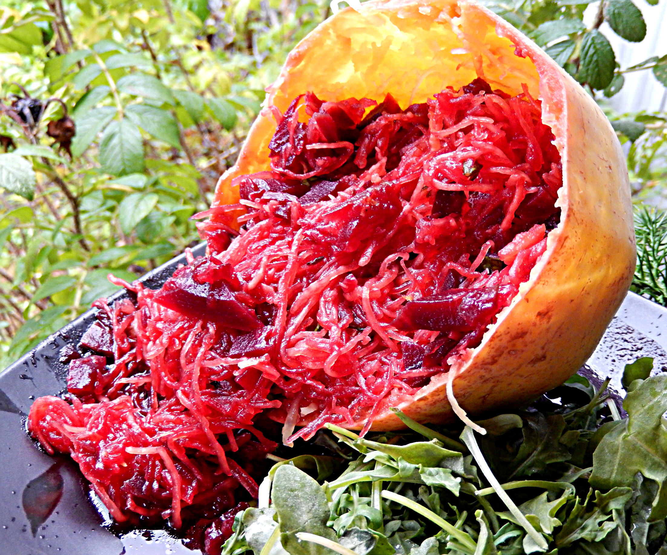 Bloody Brains ~ Spaghetti Squash and Beets