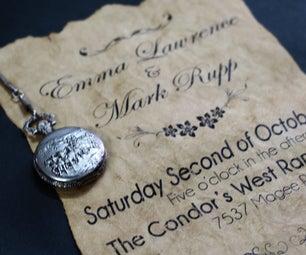 Vintage Old Paper Wedding Invitation - Project Geek #4