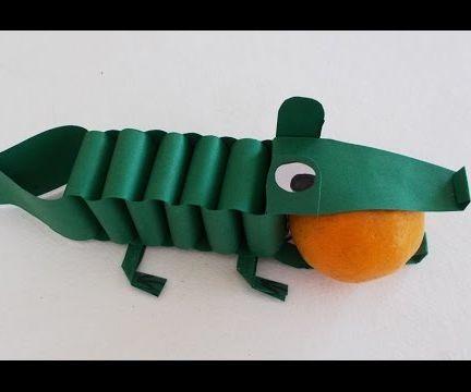Easy Fun Crafts for Kids: Diy Paper Crocodile Tutorial