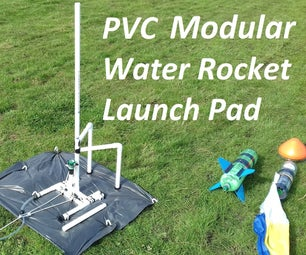 PVC Water Rocket Modular Launch Pad With Gardena Connector