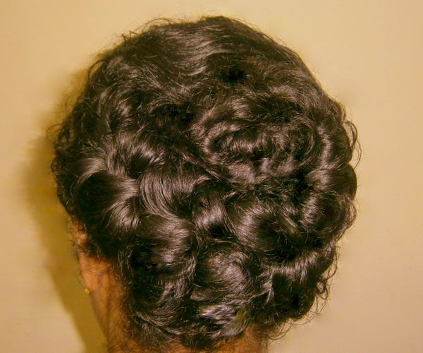 Crown Fishtail Rosette for Curly Hair