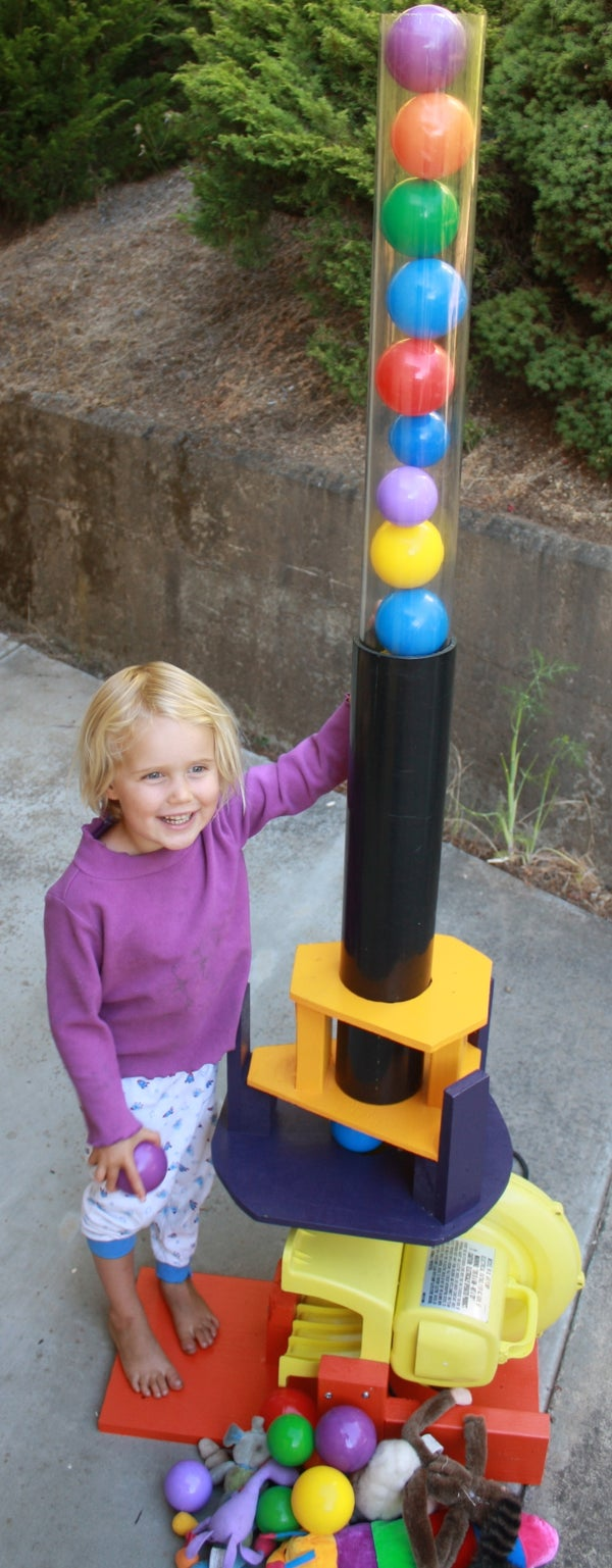 Vertical Wind Tunnel for Kids' Toys and Balls