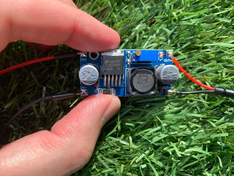 Set the 12 V to 5 V Converter