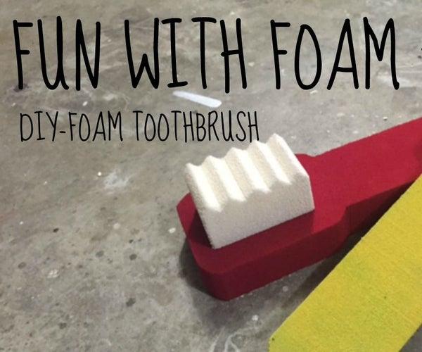 Foam Toothbrush Prop