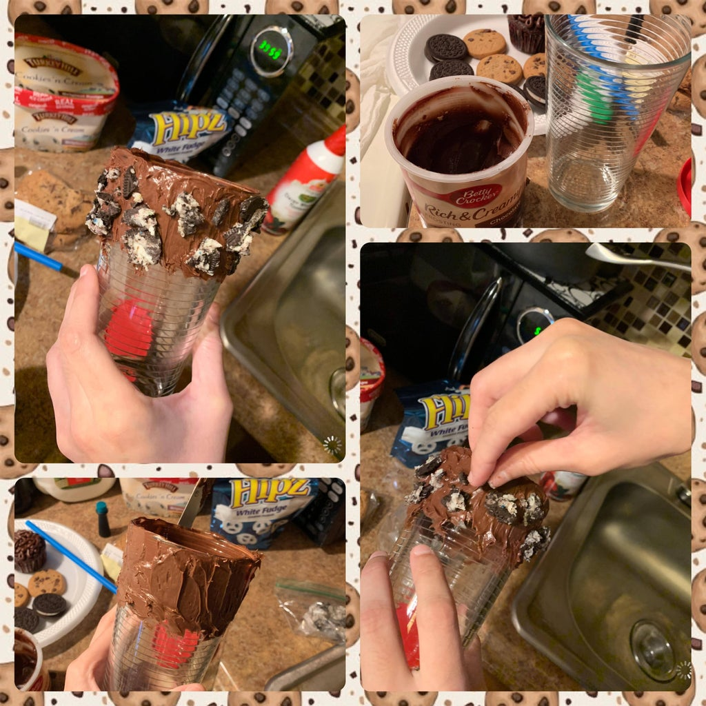 Preparing the Milkshake Glass