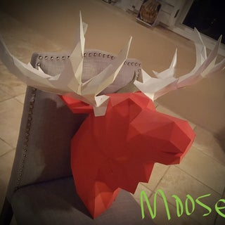 Bonus: the Papercraft Moose
