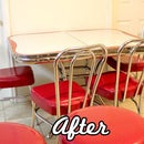 Refinish Retro Vinyl Kitchen Chairs