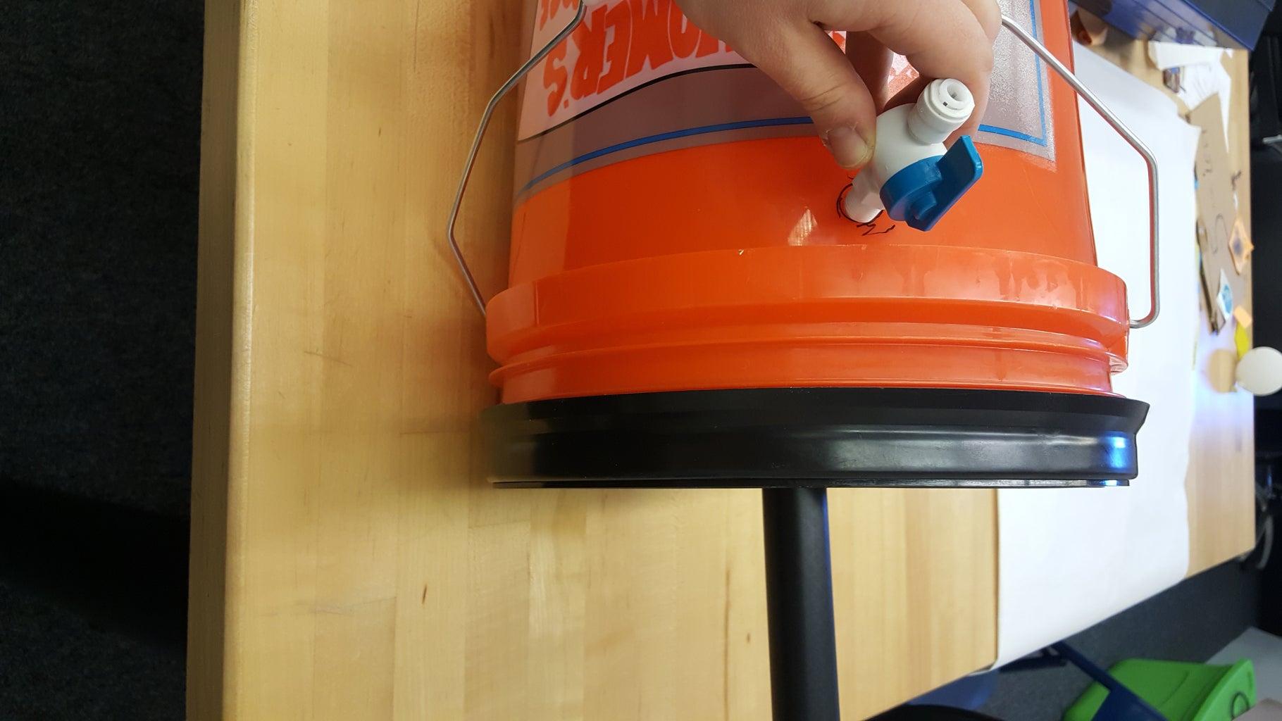 Drill the Bucket: Drainage Valve Hole