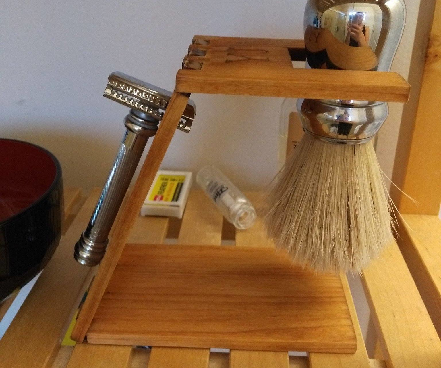 Personalized Laser Cut Shaving Stand