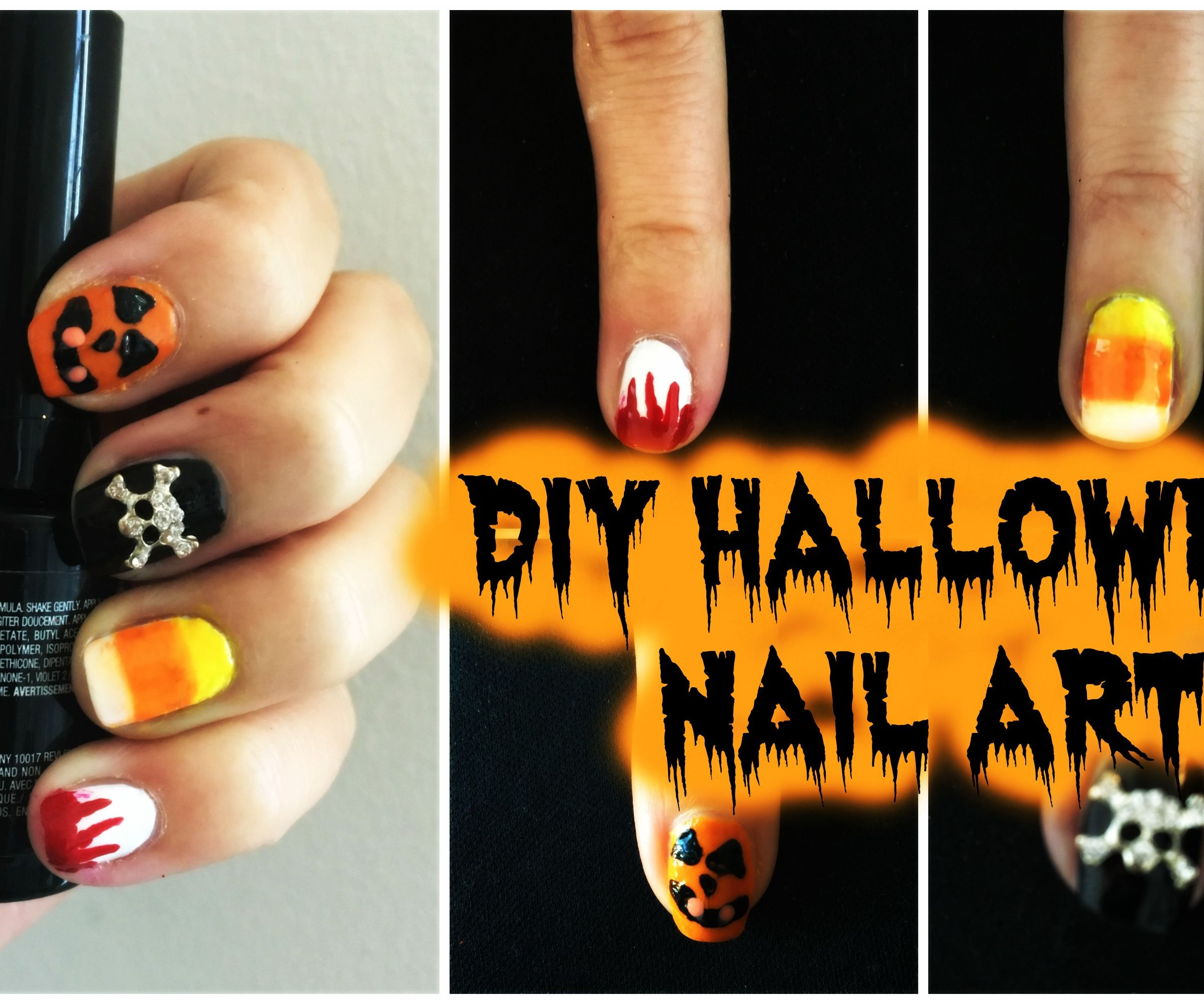 DIY Halloween Nail Art for BEGINNERS!