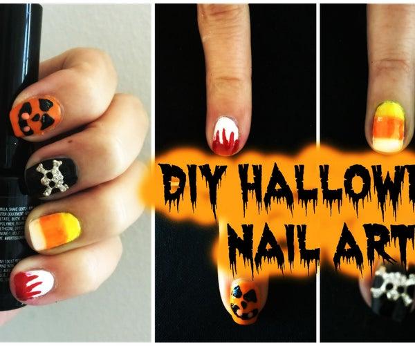 DIY Halloween Nail Art for BEGINNERS!