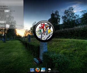Part 1:personalized Gdesklets Clock Image