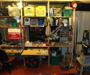Modular Work Bench and Shelves