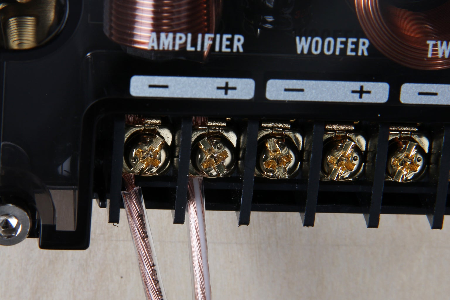 Wire Crossovers to Amplifier