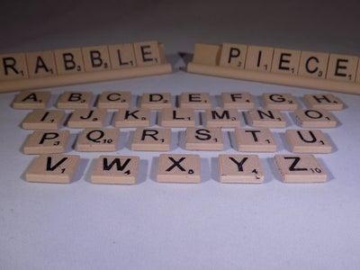3D Print Your Own Scrabble Set