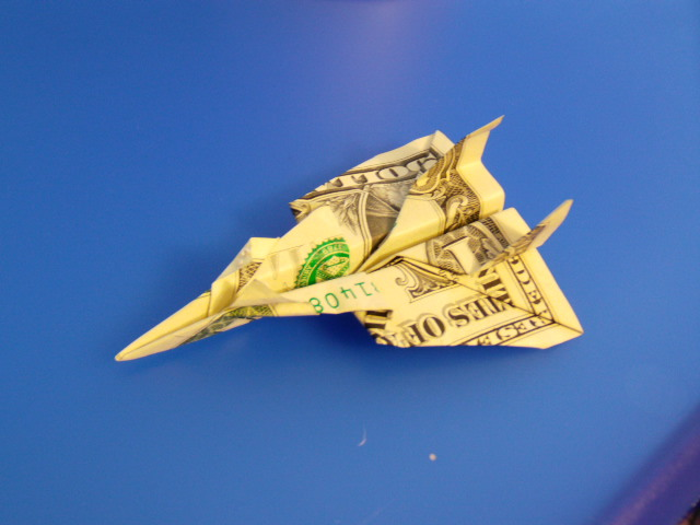 Dollar Bill Jet Fighter