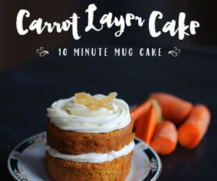 10 Minute Layered Carrot Mug Cake