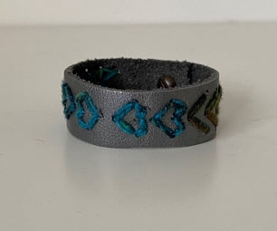 Leather Heart Bracelet (Shelter in Place Edition)