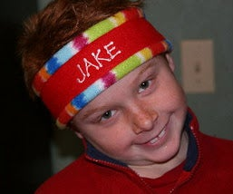Personalized Fleece Headbands