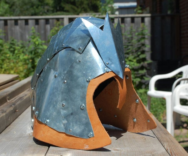 Fantasy Style Leather and Plate Helmet