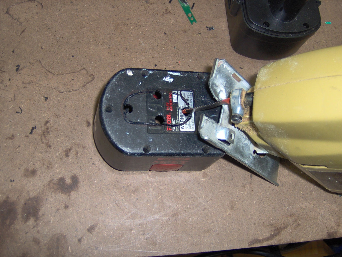 Step 5 Cutting the Base to Fit the New Battery