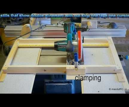 An Edge Guide With a Rear Plunge Circular Saw
