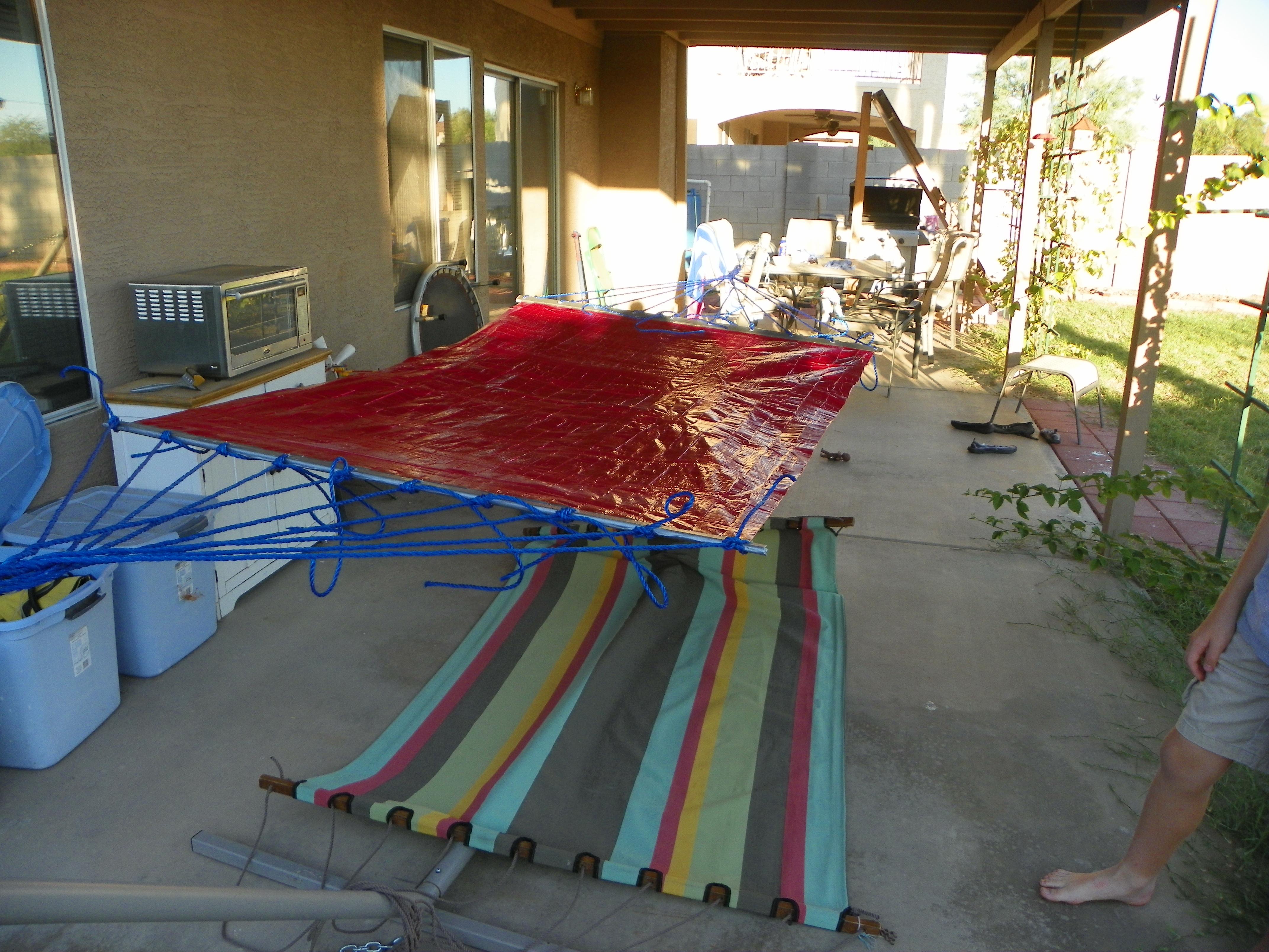 Duck tape hammock