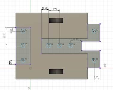 Design Process - Stationary Fixture - Mounting Holes
