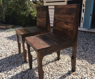 Elegant Pallet Wood Dining Chairs