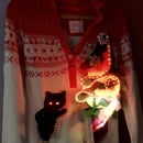Carrie the Cat Christmas Sweater