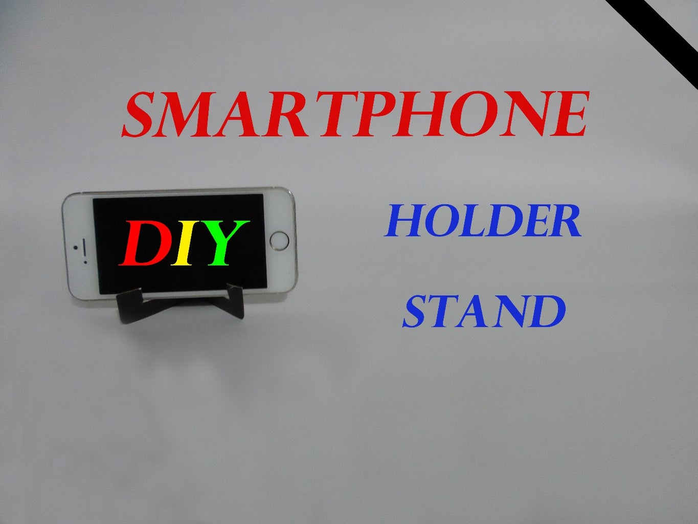 How to Make Smartphone Stand/Holder From Info Card (DIY)