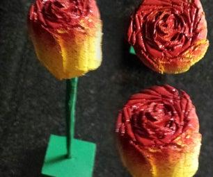 DIY Wooden Rose Gift