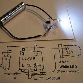 """""""Joule Thief"""" Circuit in a Flashlight Bulb? Yes!!!"""