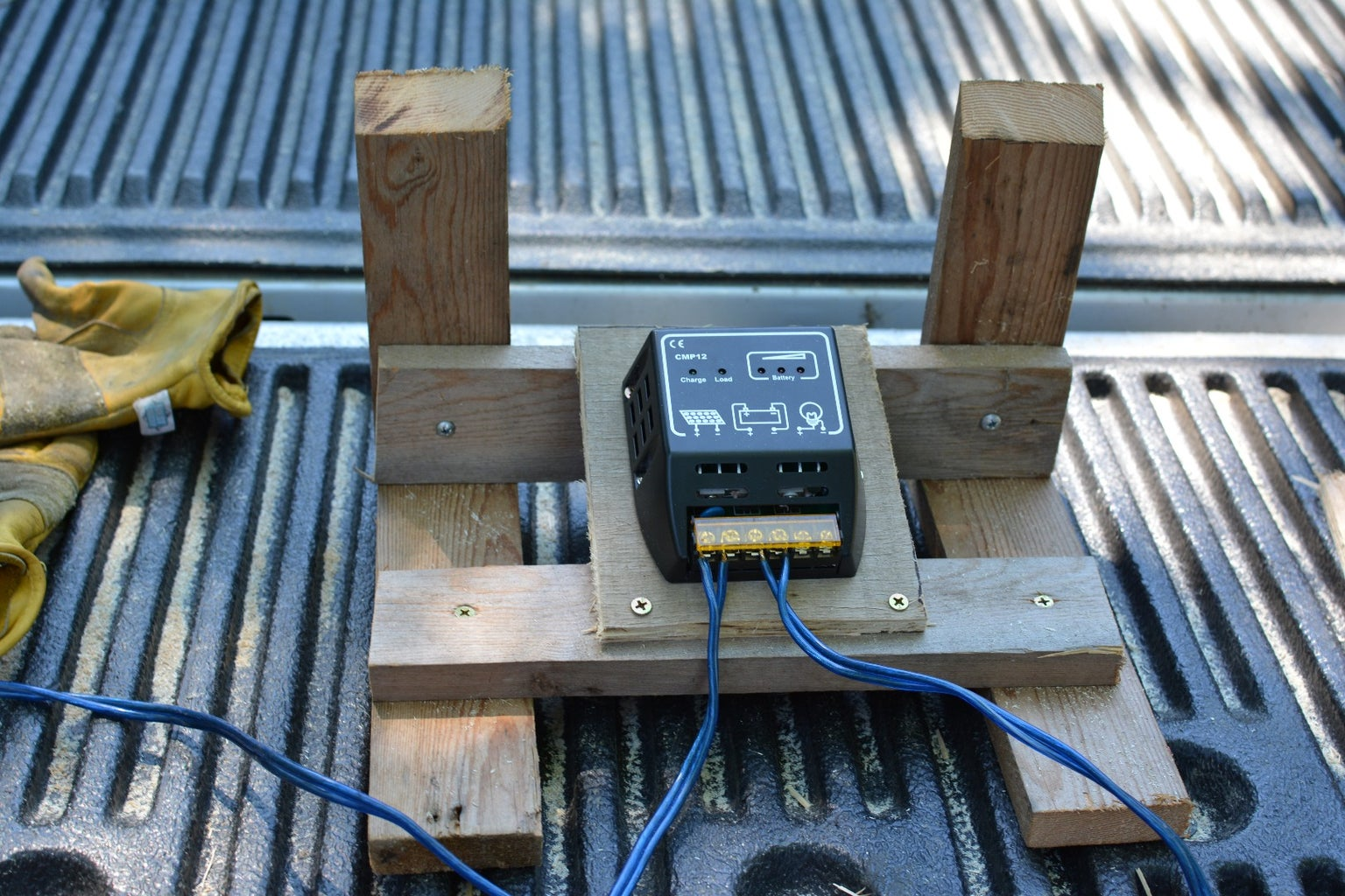 Cut the Frame for the Charge Controller and Inverter