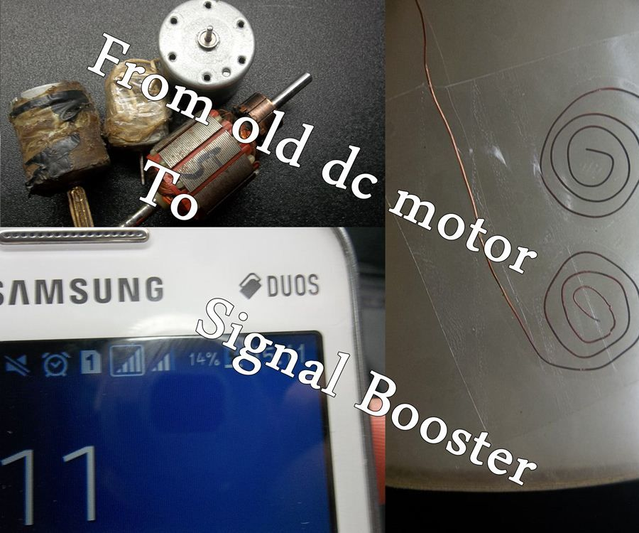 From Old Motors Into Signal Booster