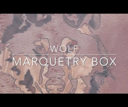Wolf Marquetry Box