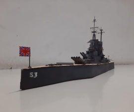 \Cardboard Model Battleship:HMS Prince of Wales