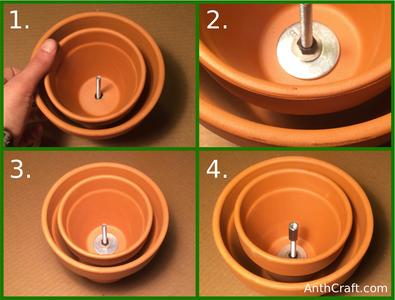 Inserting Second Ceramic Pot